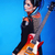 back of rock emo girl posing with electric guitar isolated on bl stock photo © victoria_andreas