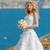 невеста · белый · подвенечное · платье · цветы · позируют - Сток-фото © victoria_andreas