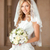 beautiful smiling bride girl with bouquet of roses in wedding dr stock photo © victoria_andreas
