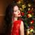 alegre · mulher · lábios · vermelhos · sorridente - foto stock © victoria_andreas