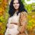 jonge · mooie · zwangere · vrouw · najaar · park · buitenshuis - stockfoto © victoria_andreas