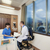 hospital doctor patient positive negative results stock photo © vilevi
