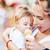 母親 · 赤ちゃん · 少年 · グレー - ストックフォト © vilevi