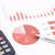 赤 · ビジネス · チャート · レポート · 電卓 - ストックフォト © vinnstock
