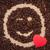 kávé · piros · szív · kacsintás · mosolygós · arc · köteg - stock fotó © viperfzk