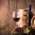 glas · rode · wijn · donkere · fles · vat · druiven - stockfoto © viperfzk