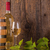 glas · wijn · witte · fles · vat · donkere - stockfoto © viperfzk