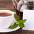 teapot and white cup with white label stock photo © viperfzk