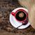 geïsoleerd · koffieboon · beker · top · koffiebonen - stockfoto © viperfzk