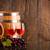 kettő · szemüveg · bor · szőlő · sötét · fából · készült - stock fotó © viperfzk