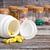 citromsárga · tabletták · műanyag · tároló · egyéb · fa · háttér - stock fotó © viperfzk