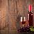 закрывается · рюмку · итальянской · кухни · стекла · вино · деревянный · стол - Сток-фото © viperfzk