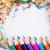 krijt · witte · papier · potlood · kunst · oranje - stockfoto © viperfzk