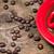 kávéscsésze · eszpresszó · bab · oldal · sötét · pörkölt - stock fotó © viperfzk