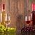 白 · 赤ワイン · 眼鏡 · ボトル · ブドウ - ストックフォト © viperfzk
