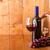 vidro · vinho · tinto · garrafa · barril · uvas · isolado - foto stock © viperfzk