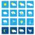 Meteo · previsione · pulsanti · illustrazione · bianco · sfondo - foto d'archivio © vipervxw