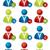 mensen · vriend · icon · zakenman · teken · mannen - stockfoto © vipervxw