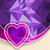 wektora · diament · serca · fioletowy · błyszczący · ślub - zdjęcia stock © vipervxw