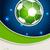 abstrato · futebol · folheto · bola · campo · projeto - foto stock © vipervxw