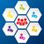 trabalho · em · equipe · rede · social · grupo · 5 · pessoas · relações · comerciais · colaboração - foto stock © vipervxw