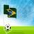 soccer ball and brazil flag stock photo © vipervxw