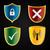 negro · amarillo · escudo · emblema · vid - foto stock © vipervxw
