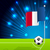 soccer ball and french flag stock photo © vipervxw