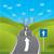 sera · dizayn · yol · işareti · yeşil · dramatik · gökyüzü - stok fotoğraf © vipervxw