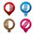 azul · tecnologia · gps · mapa · distintivo · botão - foto stock © vipervxw