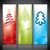 Christmas banners with various christmas tree designs stock photo © vipervxw