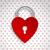 красный · сердце · блокировка · большой · металл · любви - Сток-фото © vipervxw