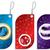 Noel · semboller · ayarlamak · kırmızı · mavi · renk - stok fotoğraf © vipervxw