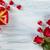 sevgililer · günü · kırmızı · gül · çikolata · tebrik · kartı · kalp · kutu - stok fotoğraf © vitalina_rybakova