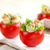 geserveerd · omhoog · saus · kerstomaatjes · voedsel - stockfoto © vitalina_rybakova