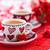 Cup · caffè · rose · rosse · legno · amore · foglia - foto d'archivio © vitalina_rybakova