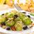 gebakken · amandelen · druiven · vakantie · tabel · kaas - stockfoto © vitalina_rybakova