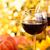 autumn arrangement with wine sunflowers and pumpkins stock photo © vitalina_rybakova