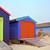 coloré · plage · rangée · ciel · bleu · été - photo stock © vividrange