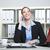 mujer · de · negocios · teléfono · portátil · archivos · negocios · tecnología - foto stock © vizualni