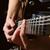közelkép · lövés · elektromos · gitár · feketefehér · zene · gitár - stock fotó © vkraskouski