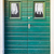 double-wing front door green stock photo © vlaru