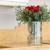 букет · закрывается · хризантема · стекла · ваза · изолированный - Сток-фото © vlaru