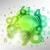 抽象的な · 緑 · 番号 · 行列 - ストックフォト © vlastas