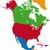 colorful north america map stock photo © volina