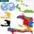 skicc · Karib · térkép · országok · fővárosok · diagram - stock fotó © volina