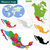 színes · Mexikó · térkép · keretek · fővárosok · utazás - stock fotó © volina