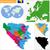 mapa · Bósnia-Herzegovina · político · vários · abstrato · mundo - foto stock © volina
