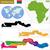 Gambia · kaart · groot · maat · land · zwarte - stockfoto © volina