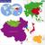 восточных · Азии · карта · цвета · город · фон - Сток-фото © volina